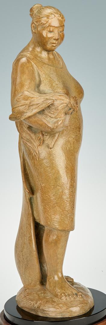 """Lot 579: Martha Pettigrew Bronze """"Mujer con Gallo"""""""