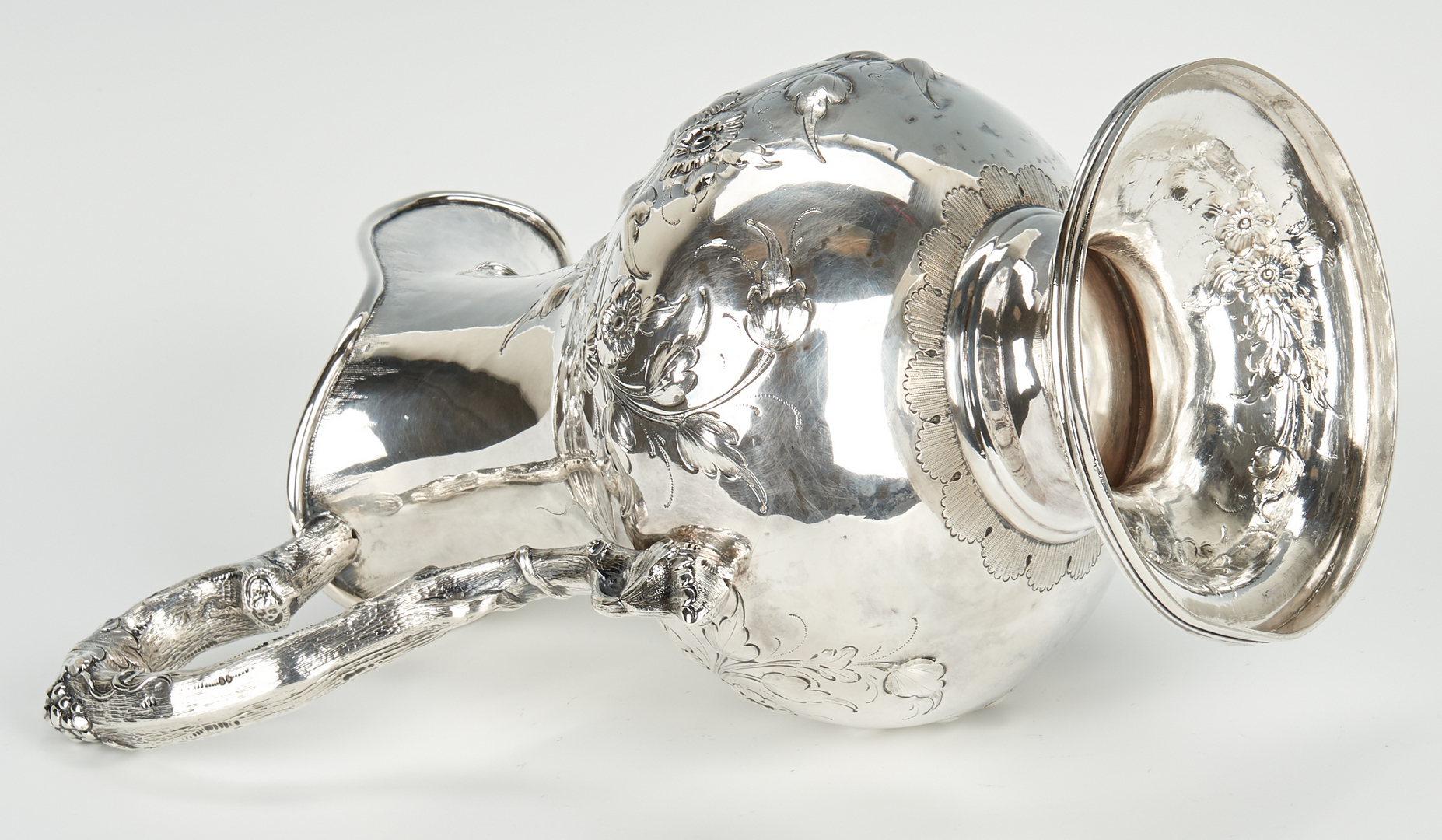 Lot 57: Kitts Kentucky Coin Silver Footed Pitcher