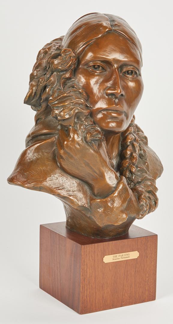 """Lot 581: Martha Pettigrew Bronze """" The Parting"""""""