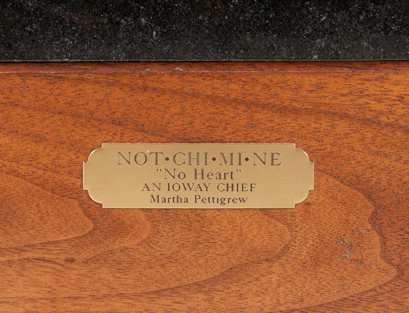"Lot 582: Martha Pettigrew Bronze ""No Heart"""