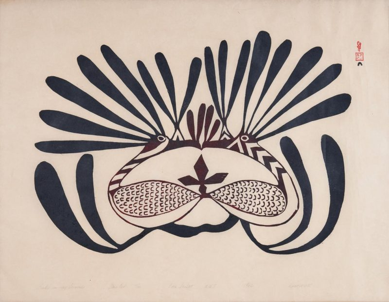 Lot 583: Inuit Print by Kenoyouk, Rudu in My Dreams