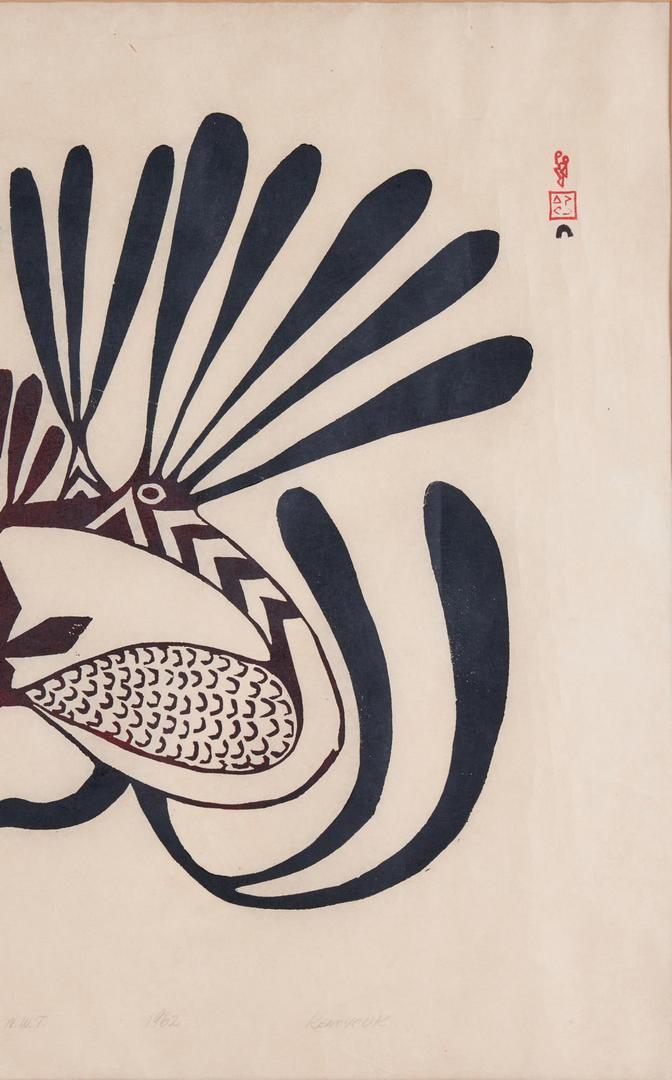 Lot 583: Inuit Print by Kenoyouk, Rudu in My Dreams