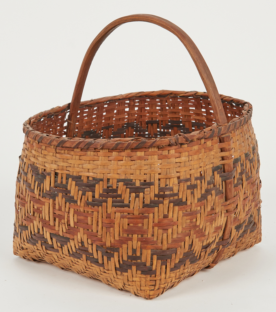Lot 584: 2 Native American Cherokee Rivercane Baskets