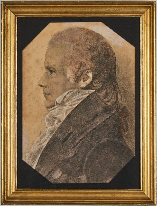 Lot 591: Saint Memin, portrait of Gen. William Eaton