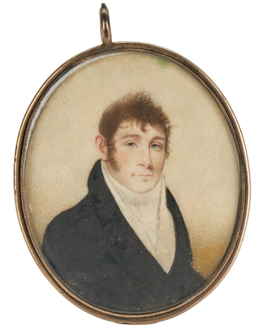 Lot 593: Miniature Portrait, Spotwood-Dandridge Family