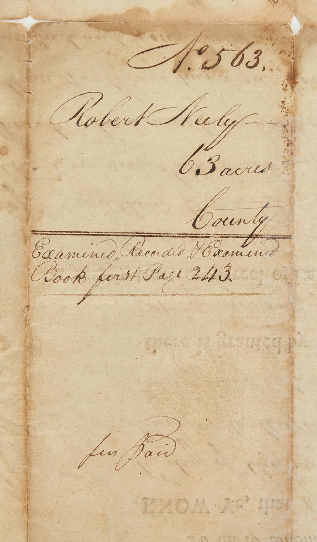 Lot 594: John Sevier Signed Land Grant, Maury Co. interest