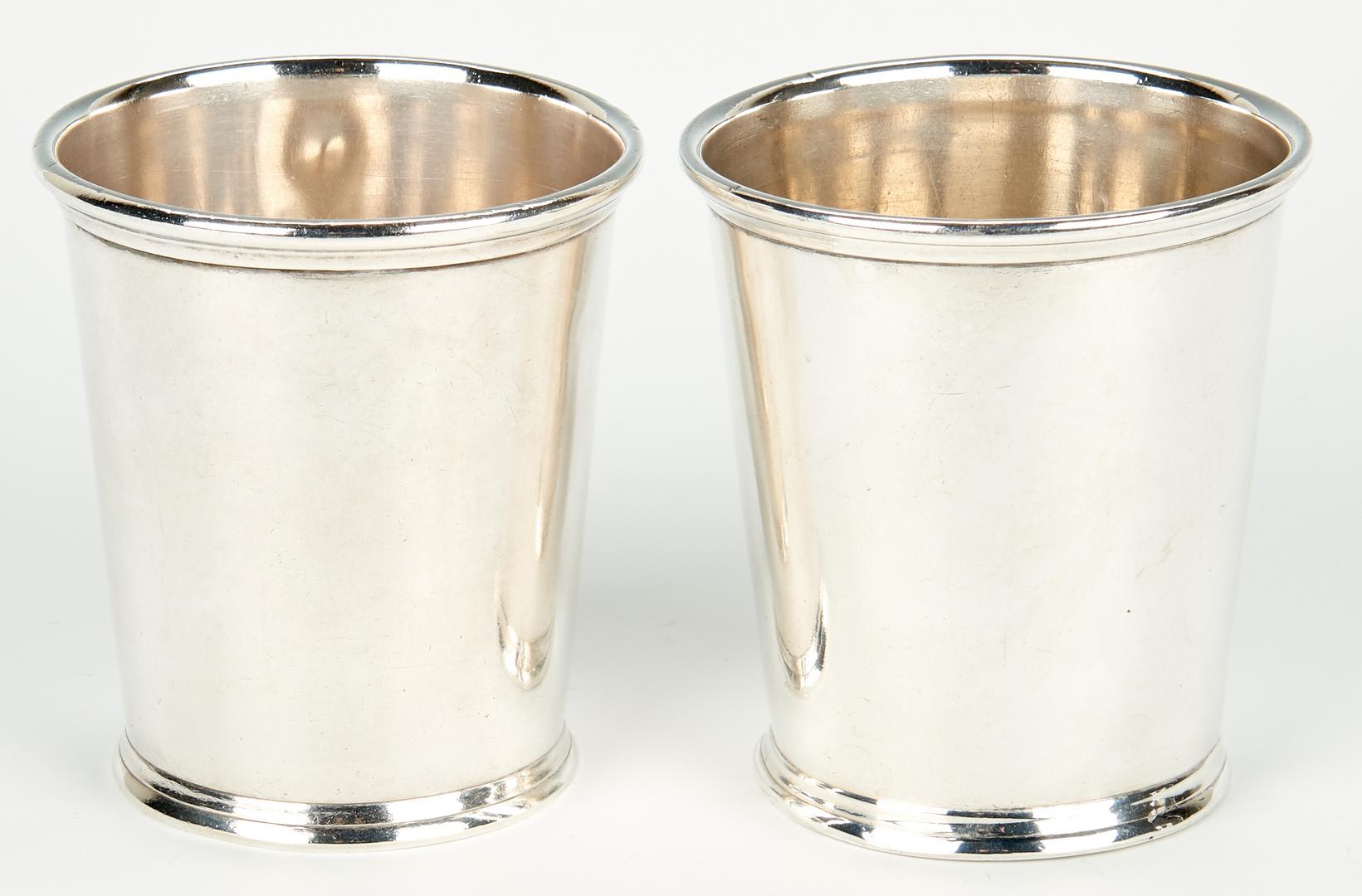 Lot 59: 4 Kentucky Akin Retailed Coin Silver Julep Cups
