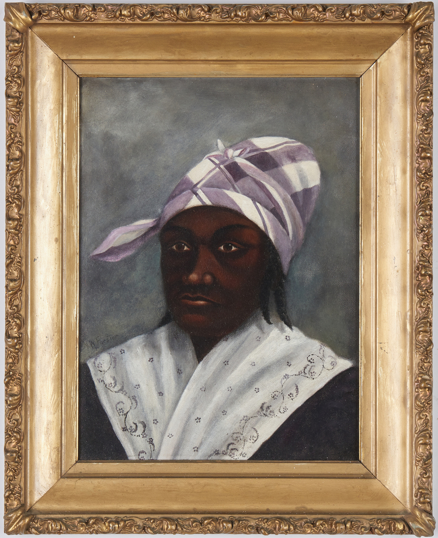 Lot 602: M. W. Forster O/B Kentucky African American Portrait