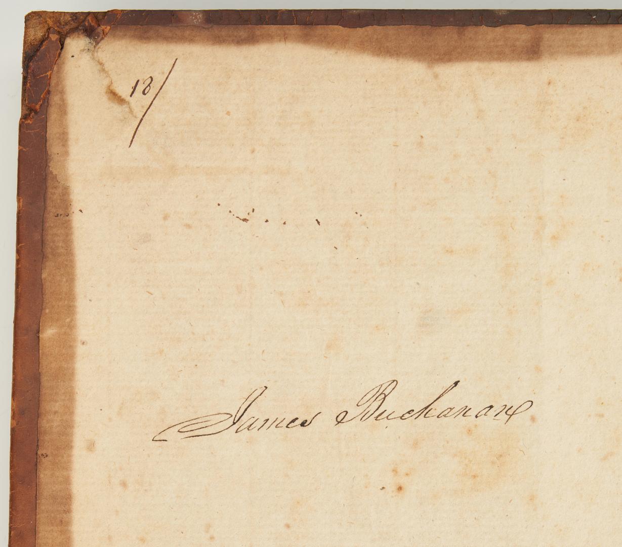 Lot 604: 4 Presidential Signed Books, incl. M. Fillmore, J. Buchanan