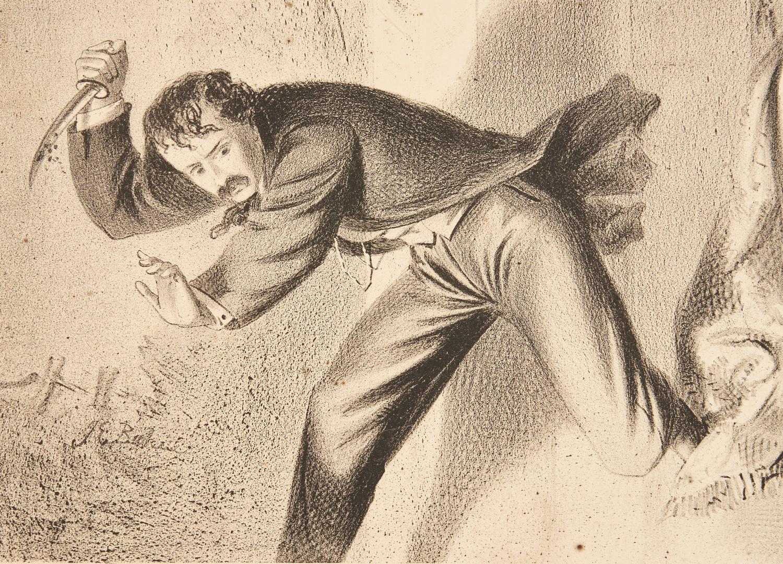 Lot 607: Rare Print of Lincoln Assassination plus Albumen Print of Mt. Vernon