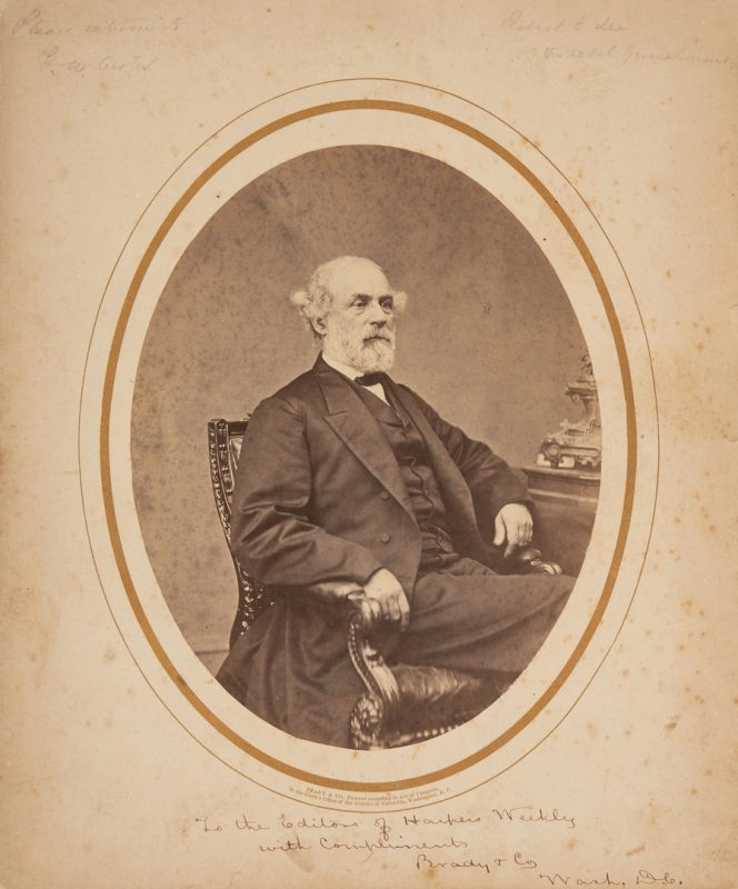 Lot 608: 1866 Photograph of Robert E. Lee, Brady & Co. Presentation Inscription