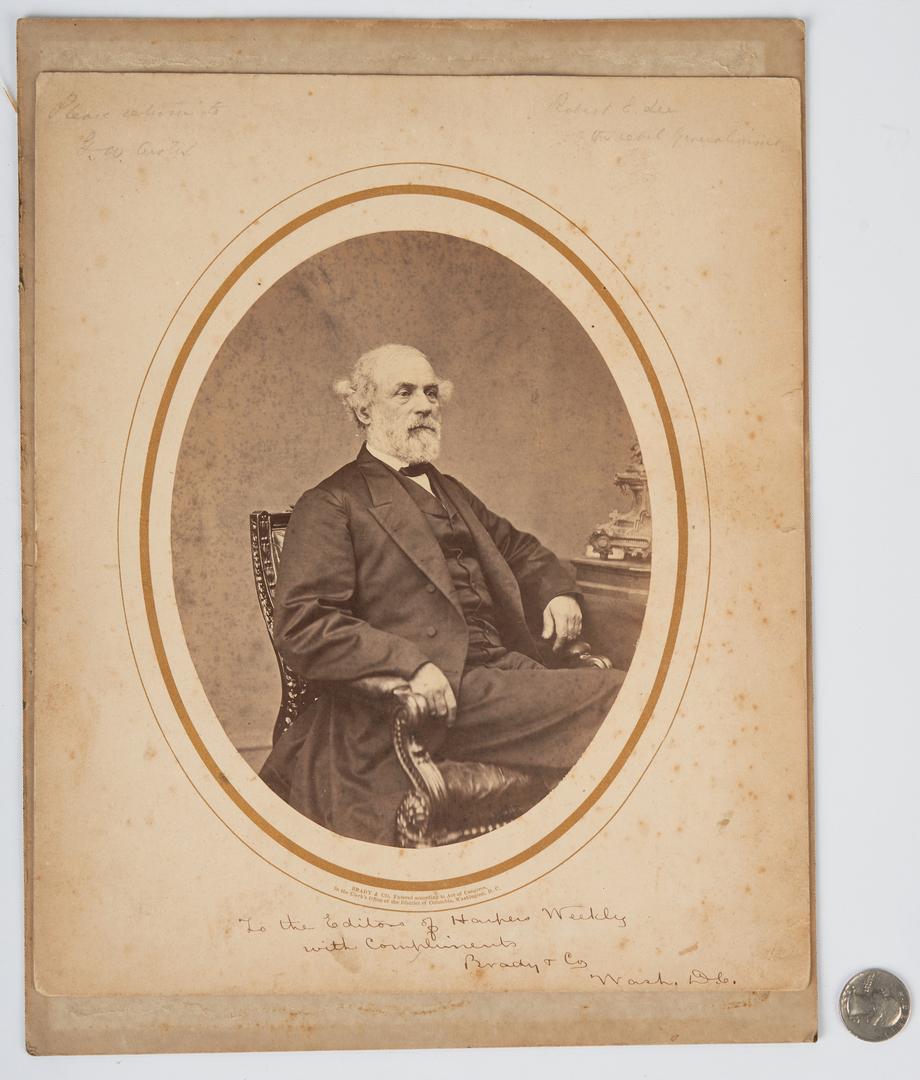 Lot 608: 1866 Photograph of Robert E. Lee, Brady & Co. Presentation Inscription