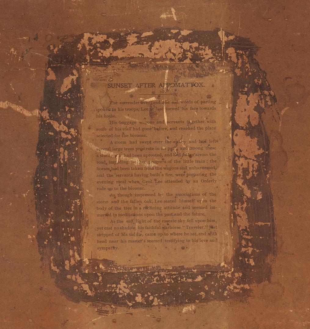 Lot 609: Carl Gutherz print of Robert E. Lee, Appomattox