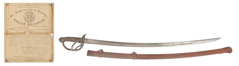 Lot 610: Civil War M1840 Sword, Capt. Richard Myers, KY