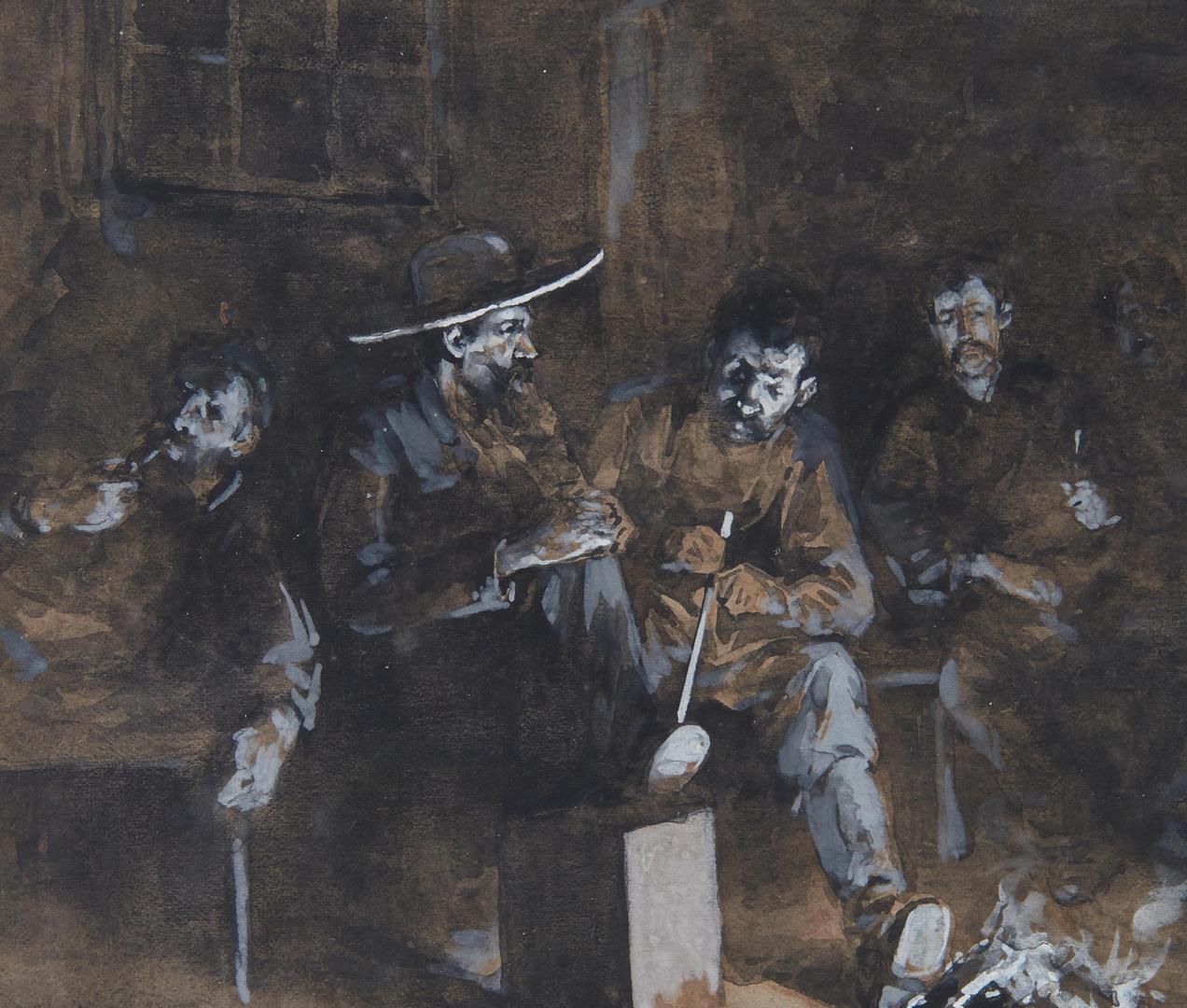 Lot 613: Attr. Allen C. Redwood, Tavern Scene Illustration
