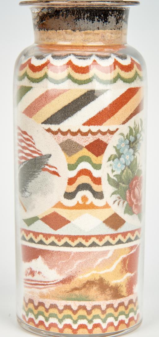 Lot 615: Andrew Clemens Sand Art Bottle