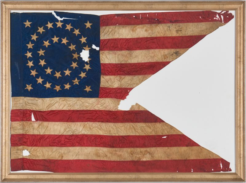 Lot 616: Civil War Guidon, 19th Ohio, Cpl. Marcellus Messer