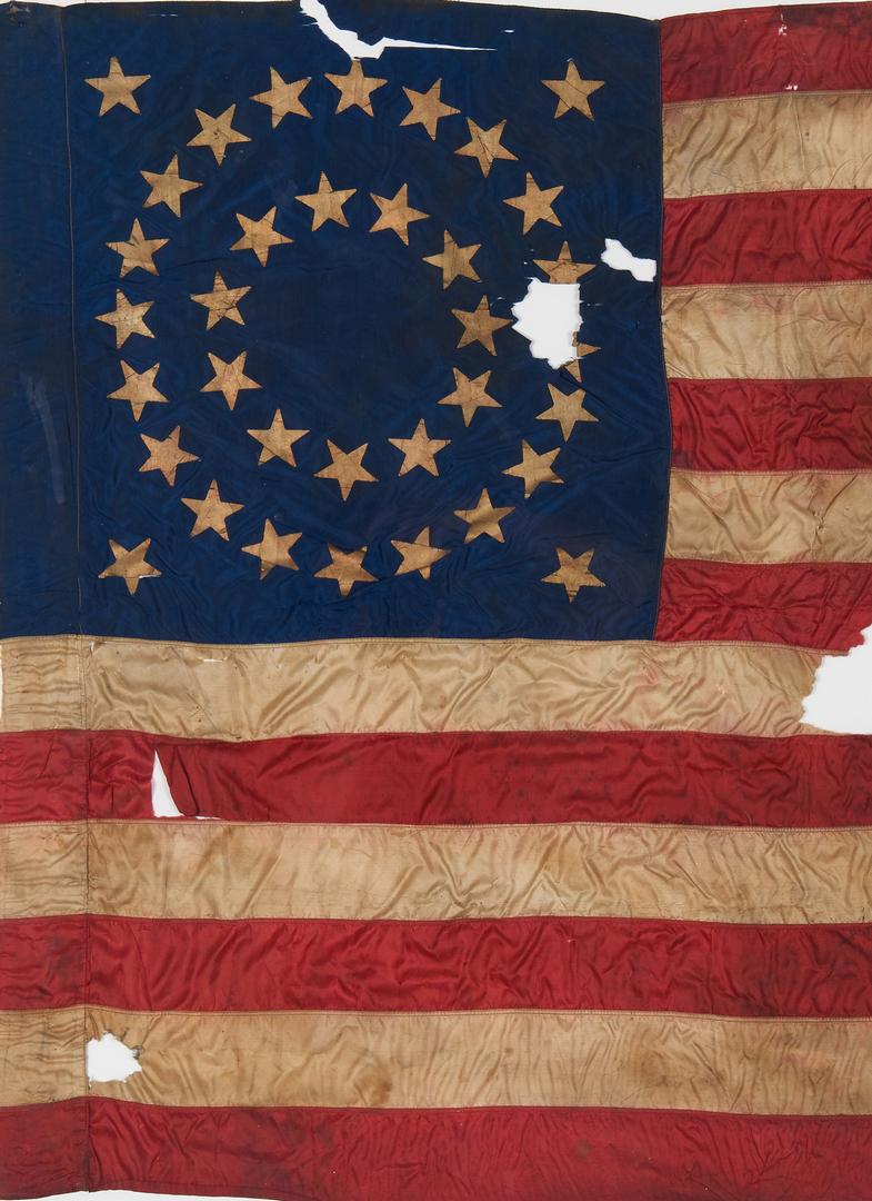 Lot 616: Civil War Guidon, 19th Ohio, Cpl. Marcellus Messer