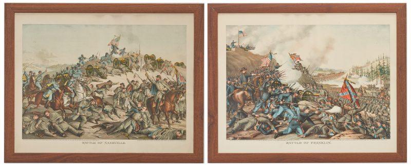 Lot 622: 2 Kurz and Allison Prints incl. Battle of Franklin