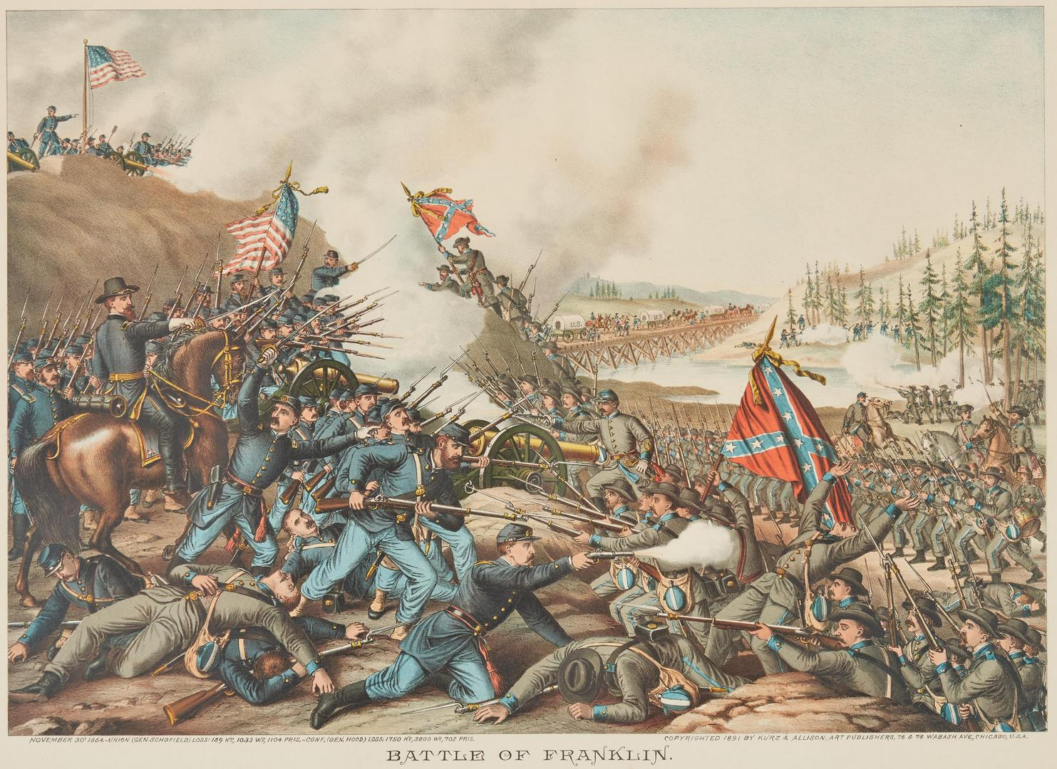 Lot 622: 2 Kurz and Allison Prints incl. Battle of Franklin