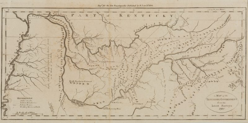 Lot 631: Tennassee E. Low / Payne Map 1810