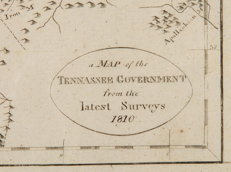 Lot 631: Tennassee E. Low / Payne Map 1810