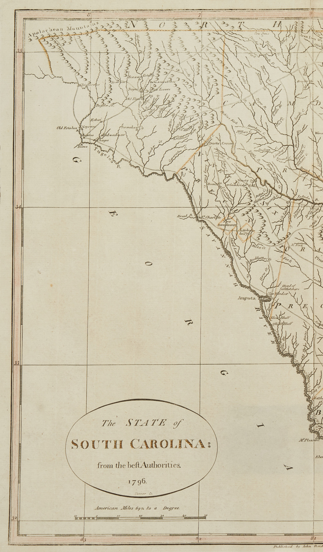 Lot 632: 3 Southern Maps, incl. 2  Antonio Zatta 1778, SC 1796