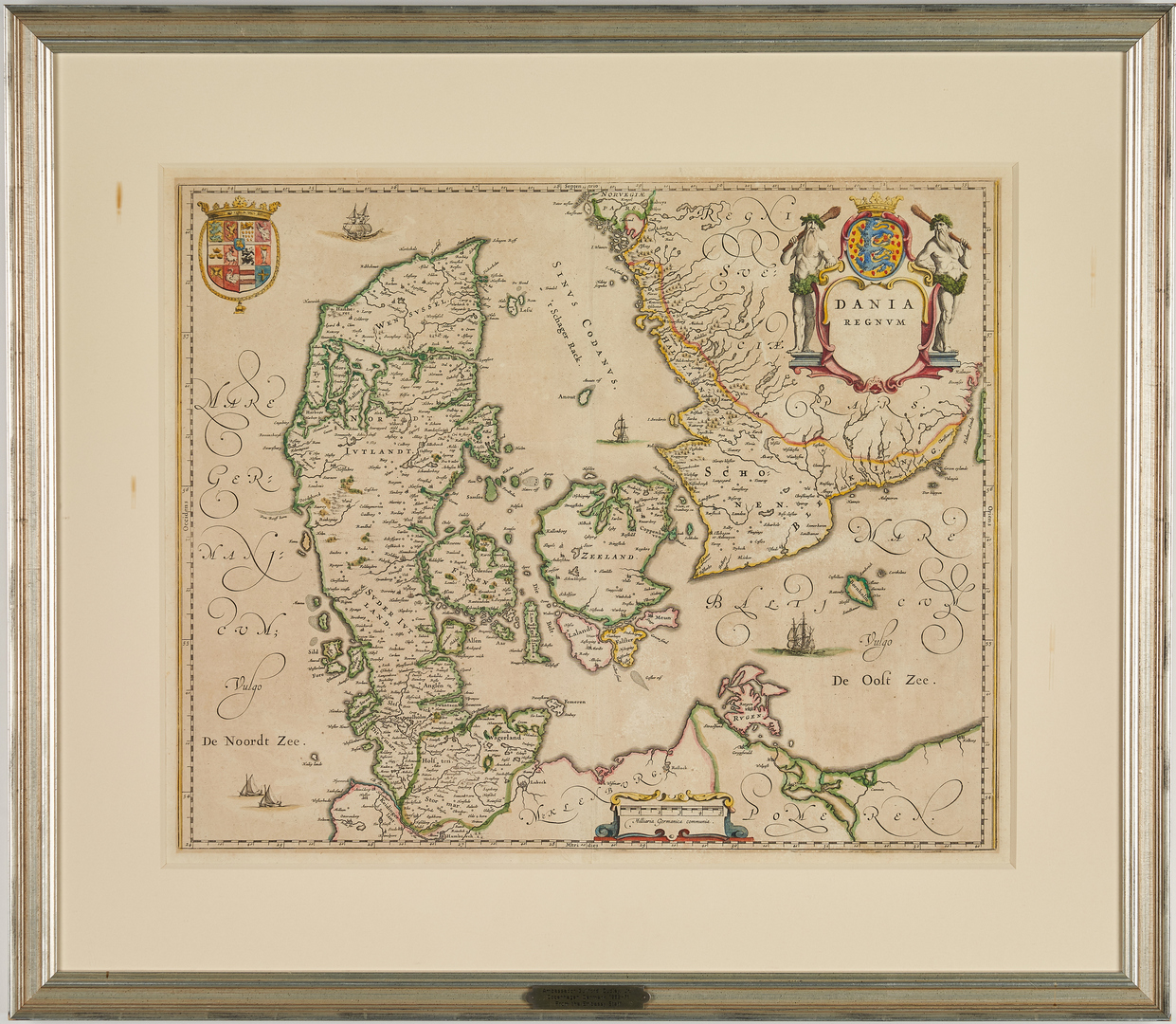 Lot 635: Early Map of Denmark