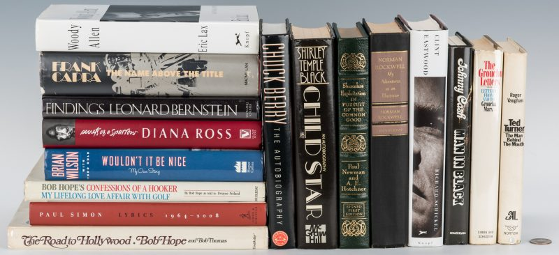Lot 637: 16 Celebrity Signed Books