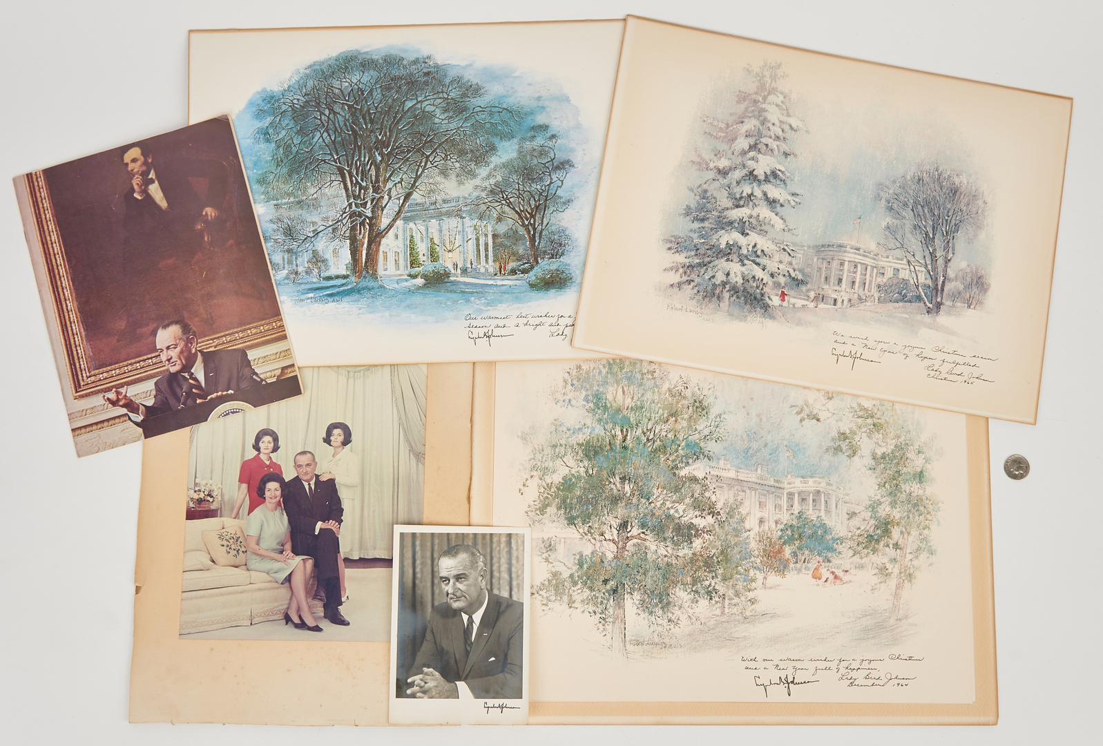 Lot 638: Archive of 25 Eisenhower, Kennedy, and Johnson Admin. Items