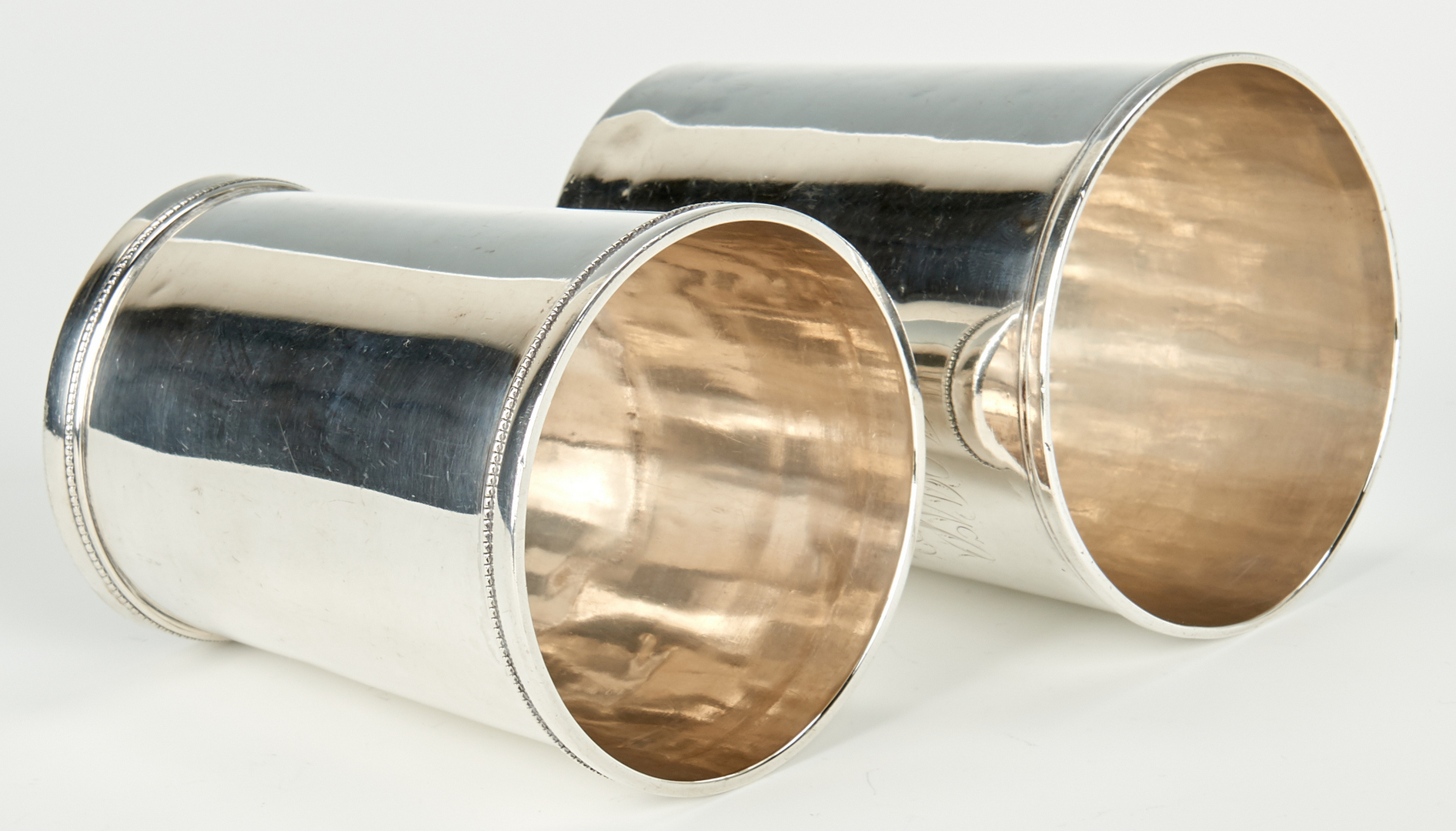 Lot 63: 4 Coin Silver Julep Cups, incl. KY