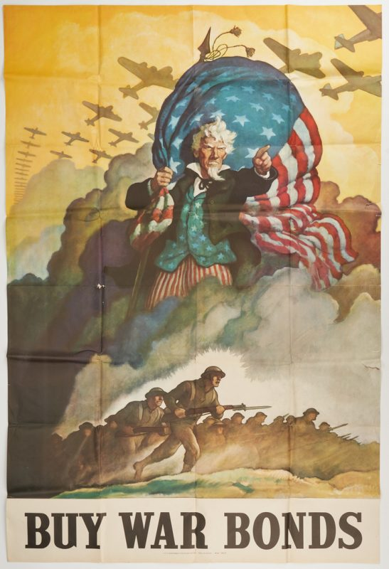 Lot 641: WWII U. S. Propaganda Poster, Uncle Sam