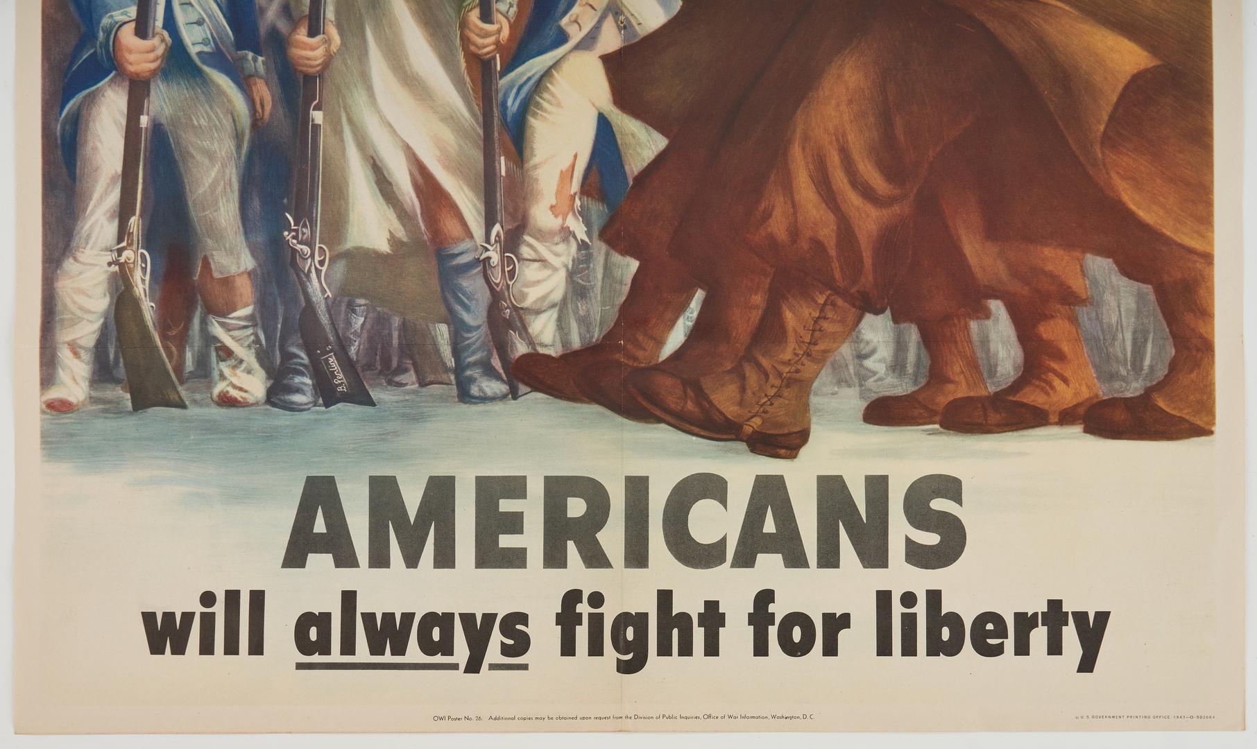 Lot 643: 3 U. S. World War II Propaganda Posters