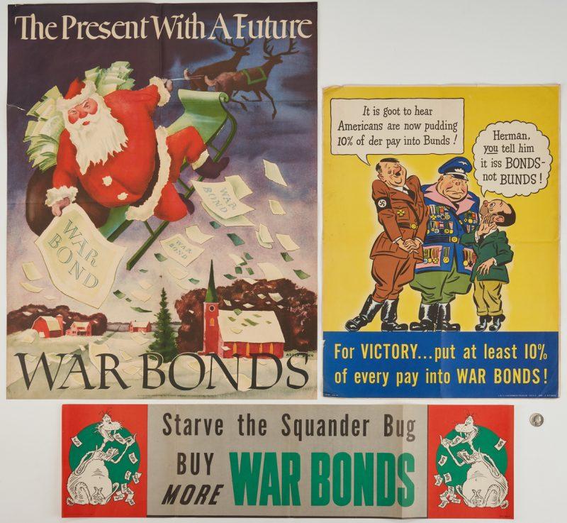 Lot 644: 3 U. S. World War II War Bonds Posters