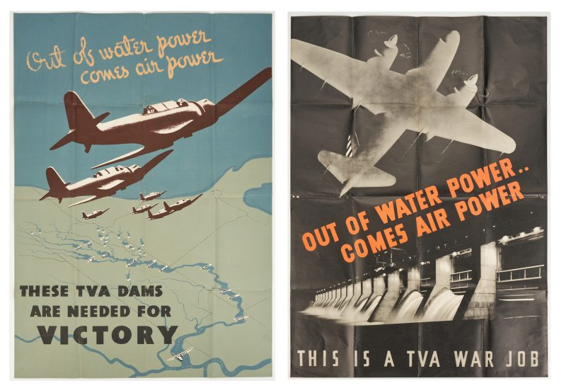 Lot 646: 2 World War II TVA Propaganda Posters