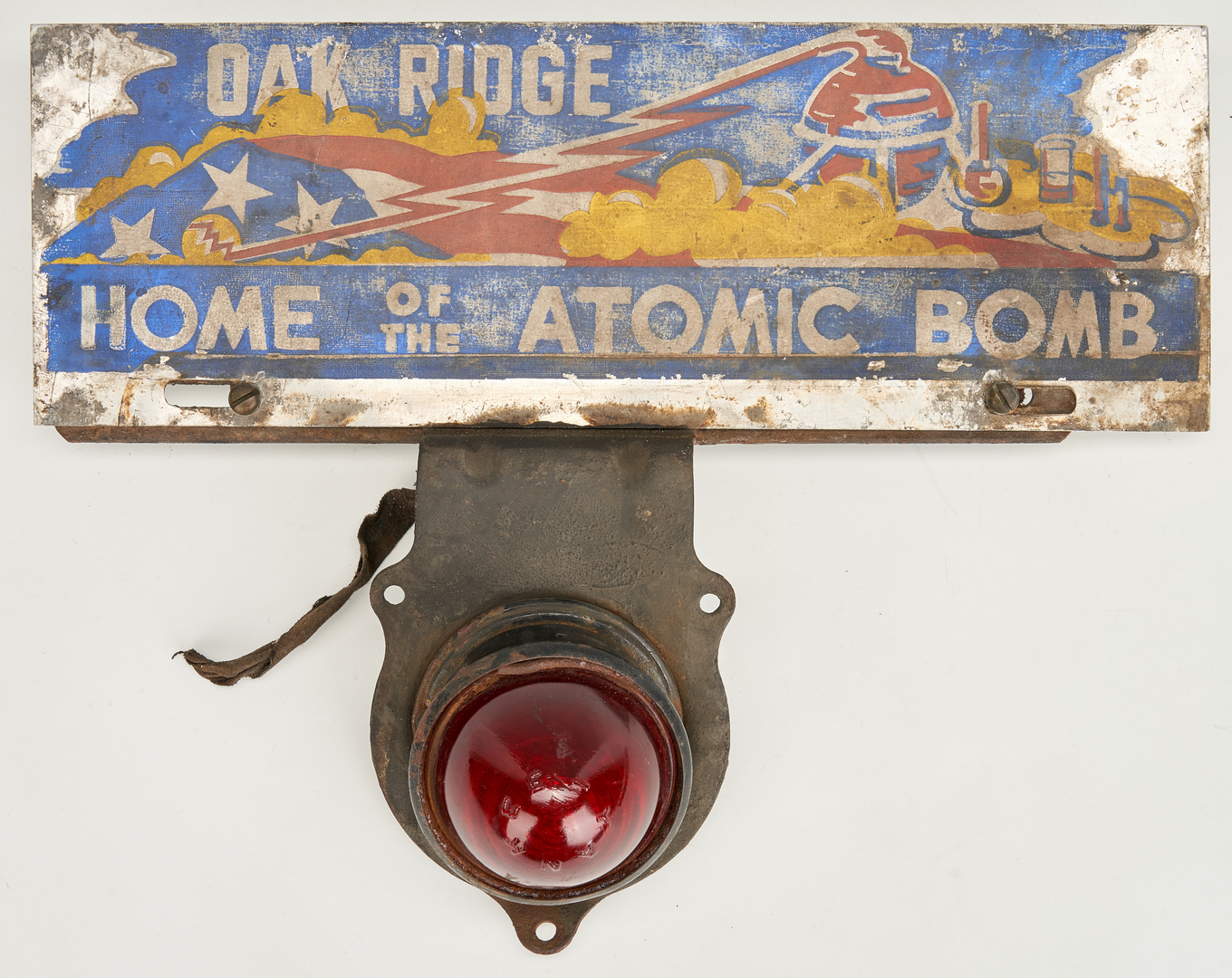 Lot 647: Oak Ridge Atomic Bomb Topper & Bank Thermometer