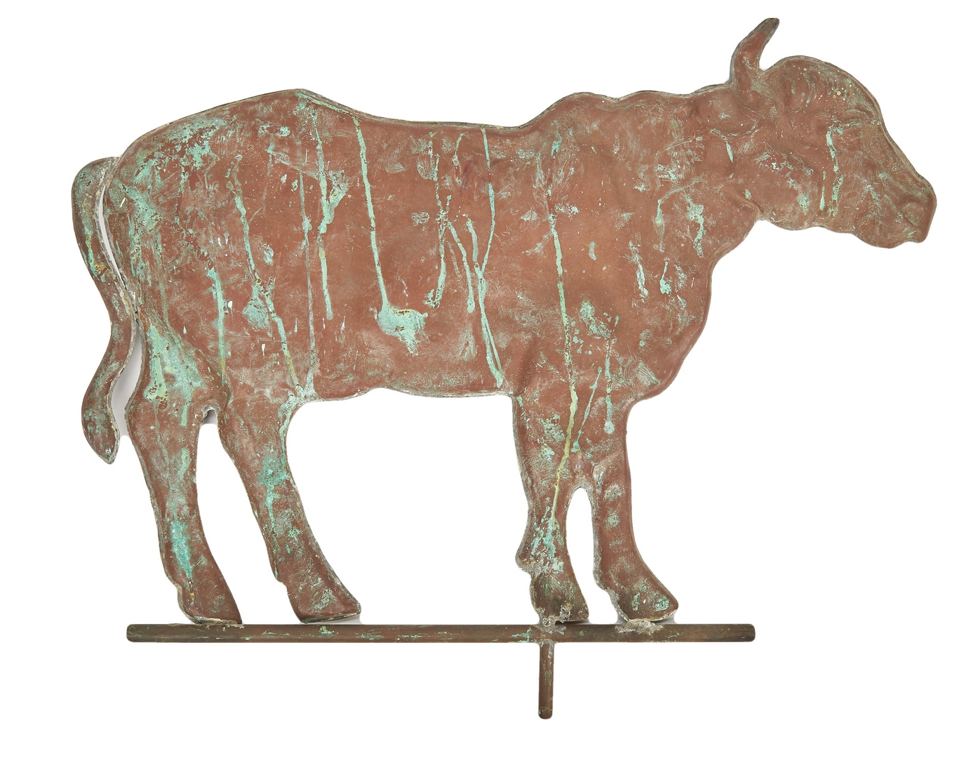Lot 651: Pair of American Weathervanes, incl. Horse & Cow