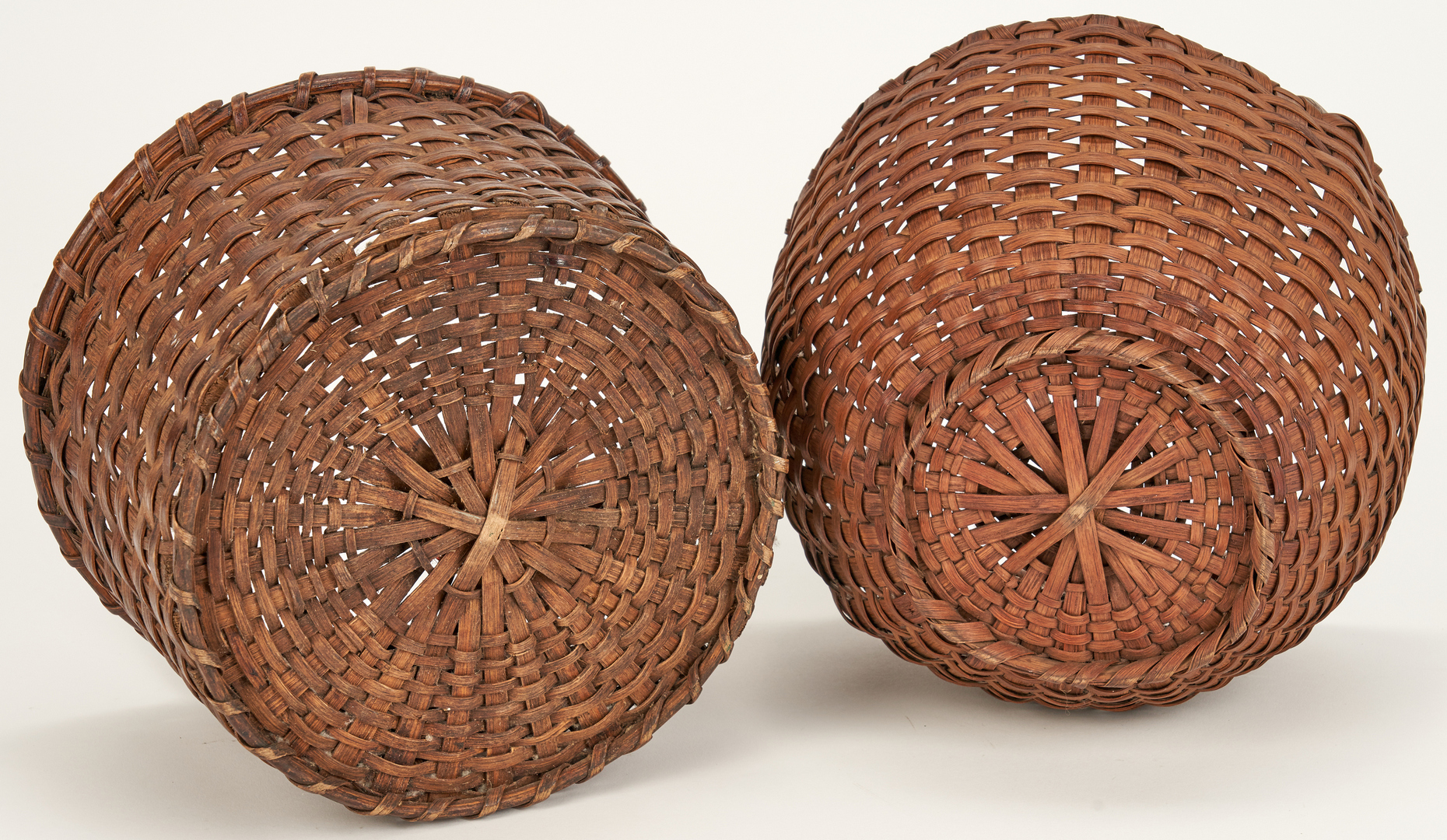 Lot 654: 6 Tennessee & Southern Oak Baskets, Late 19th/Early 20th Century