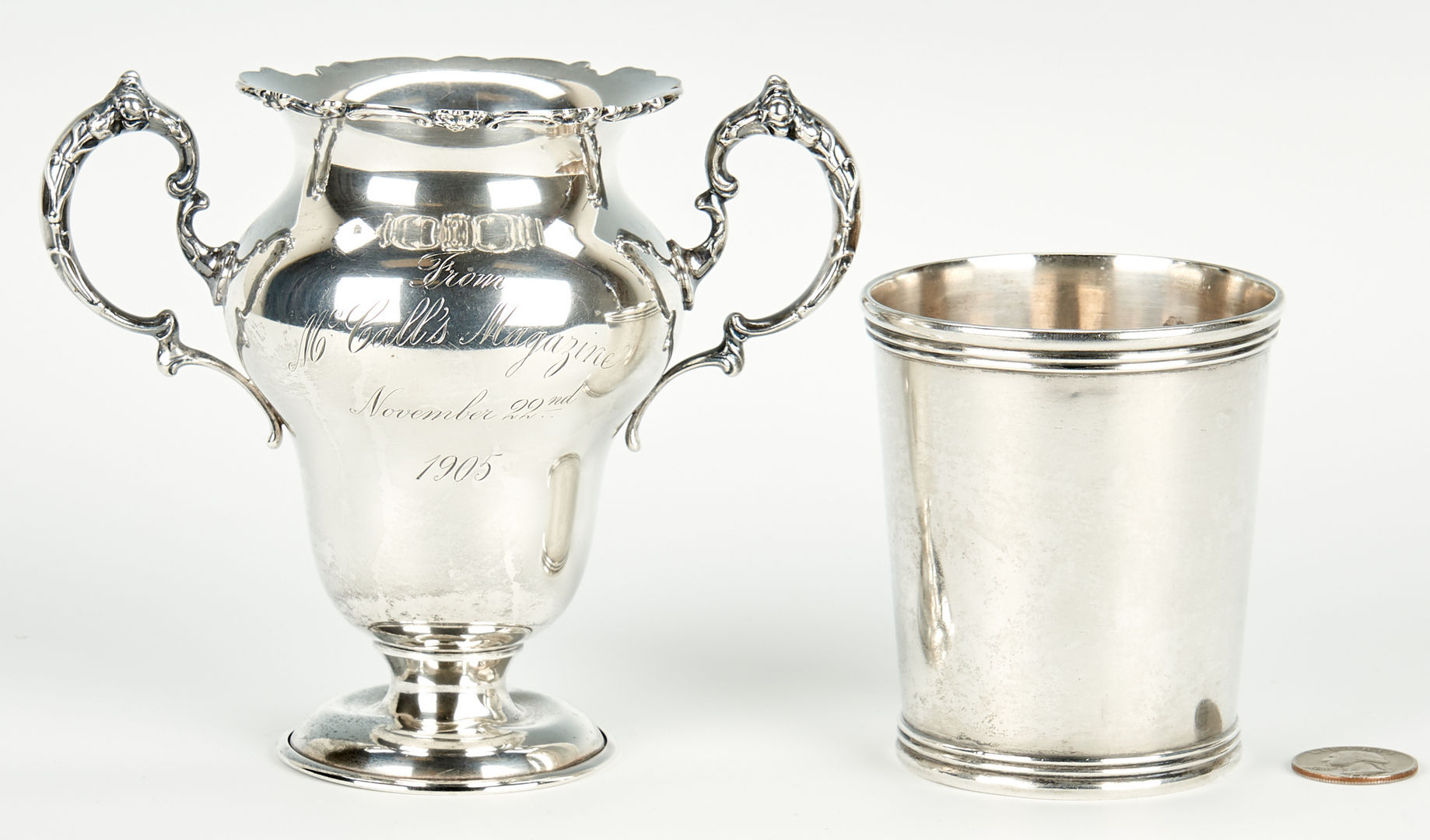 Lot 65: McDannold KY Coin Silver Julep Plus Presentation Cup