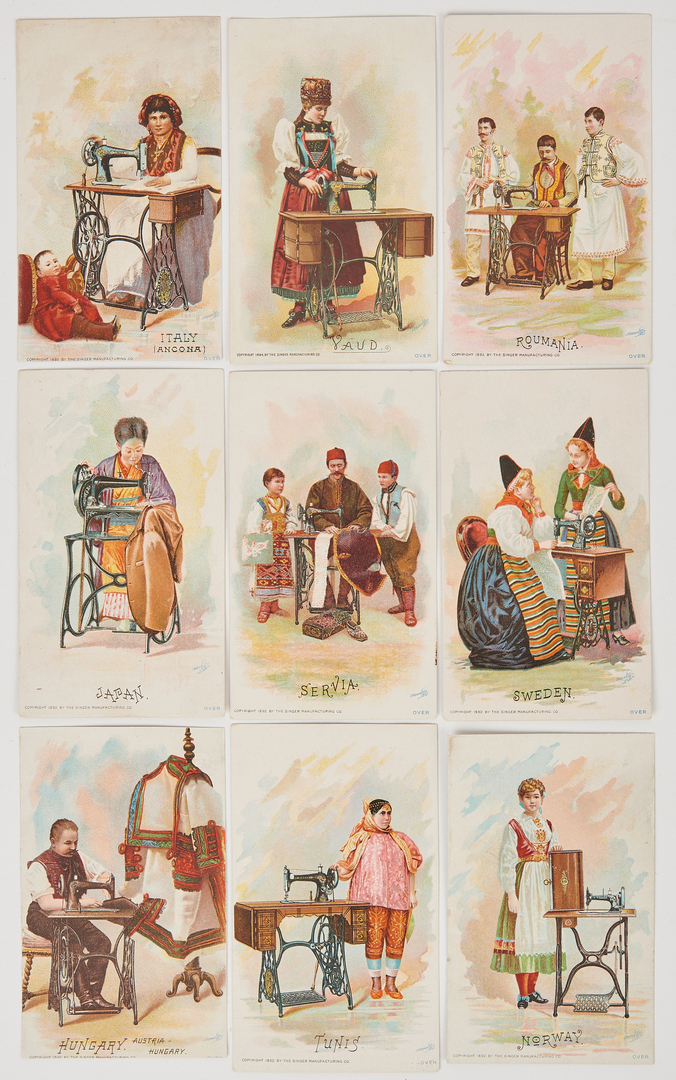 Lot 666: Large Collection Music and Sewing Trade Cards/Calendars