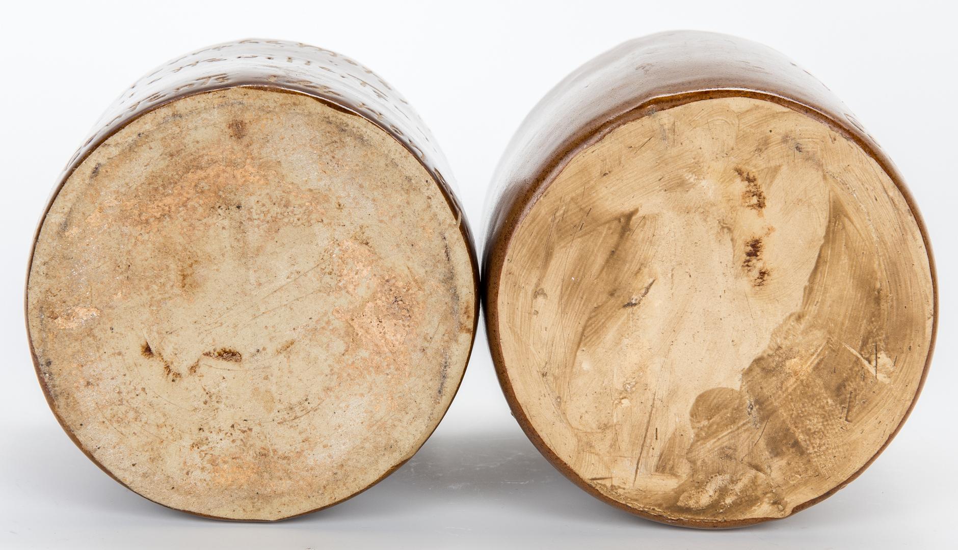 Lot 669: 4 Middle TN Pottery Jugs, Advertising & Nashville Pottery