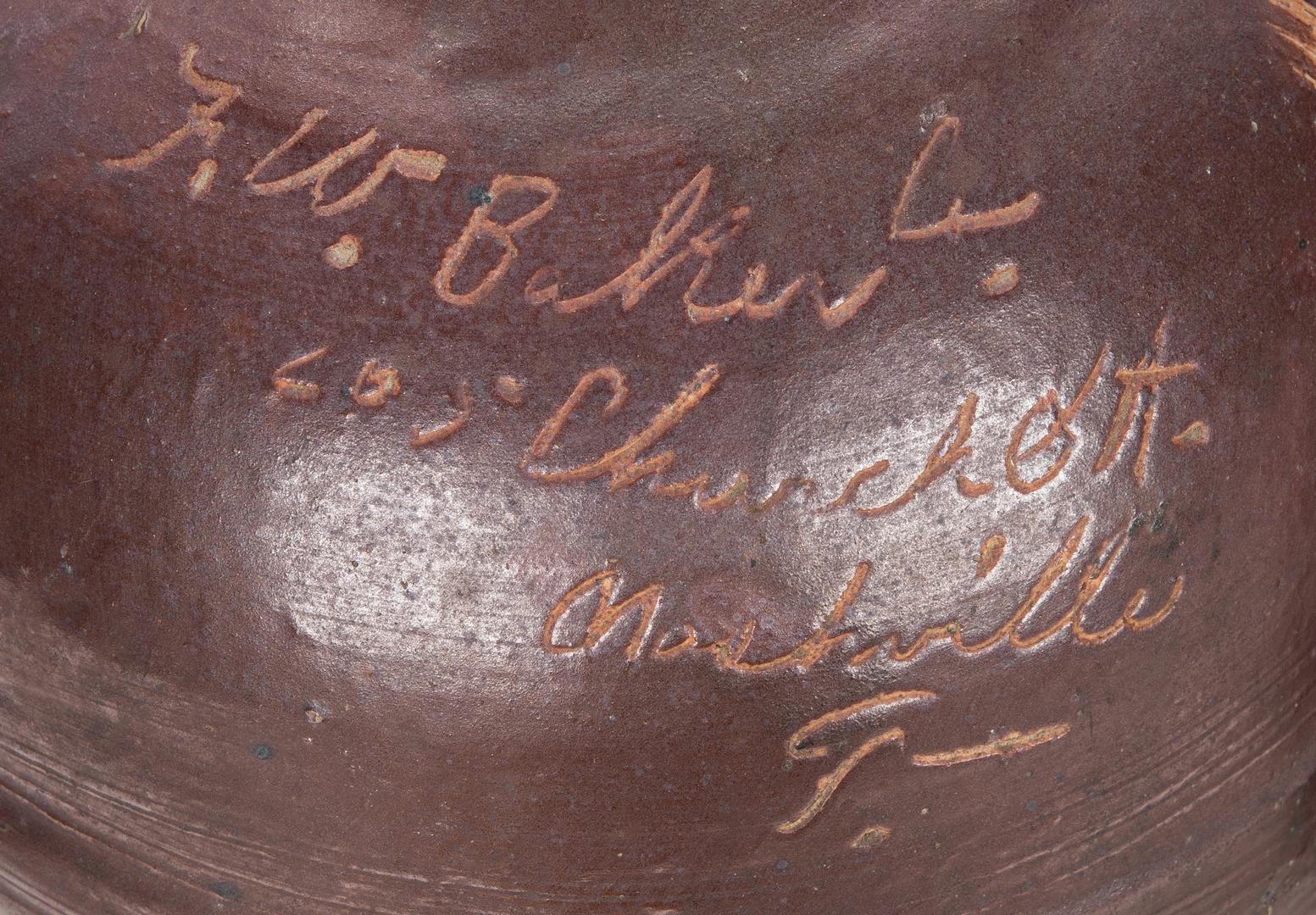 Lot 670: 2 TN Stoneware Advertising Whiskey Jugs, Script