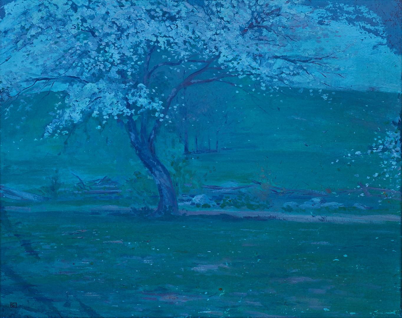 Lot 673: Attr. Eliot Clark O/C, Impressionist Landscape