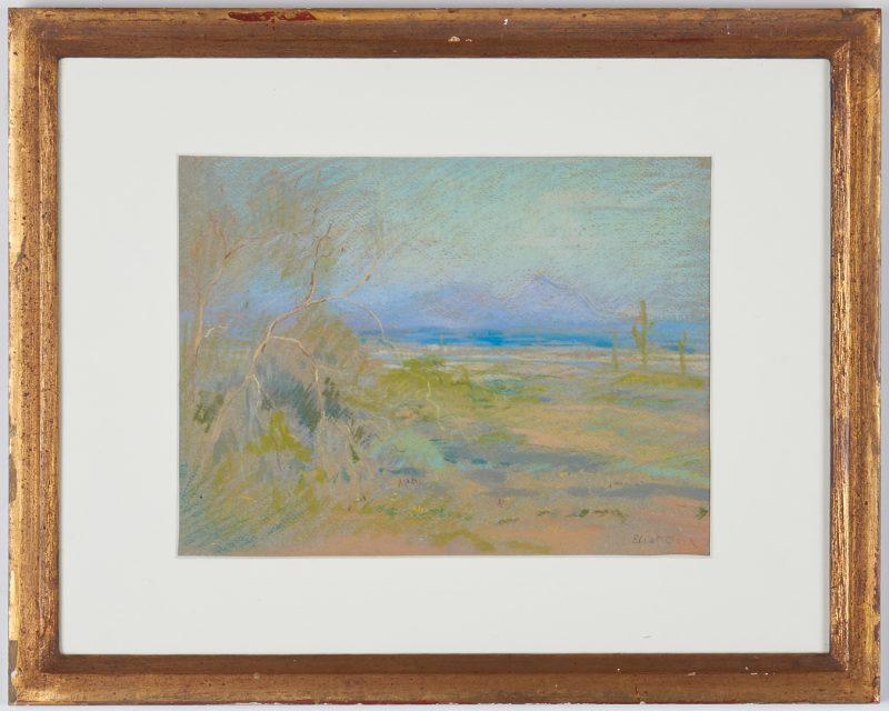 Lot 674: Eliot Clark Pastel Landscape, The Purple Mountains