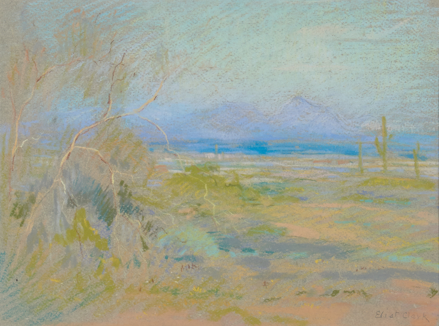 Lot 674: Eliot Clark Pastel Landscape, The Purple Mountains