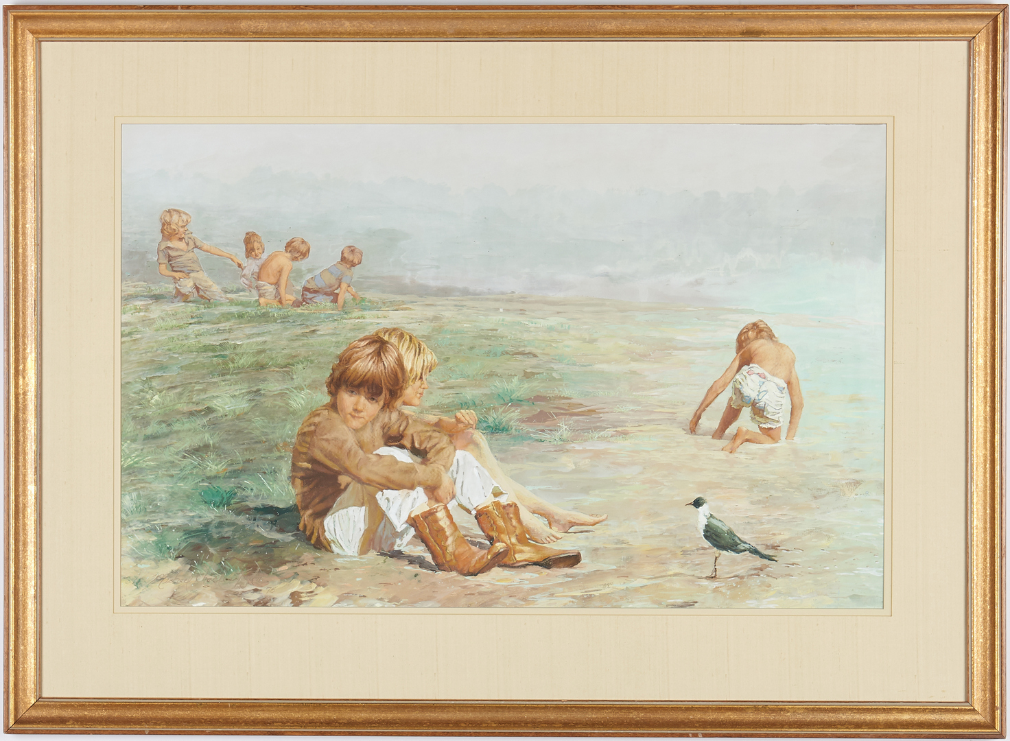 Lot 676: Michael Taylor Watercolor Painting, Tuesday Morning