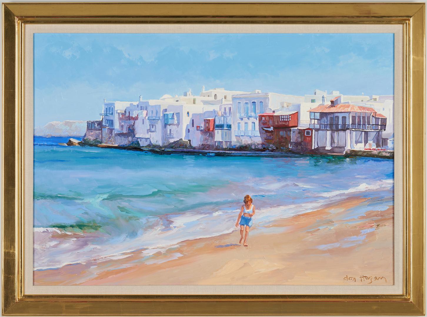 Lot 677: Don Hazen O/C, Beach Scene