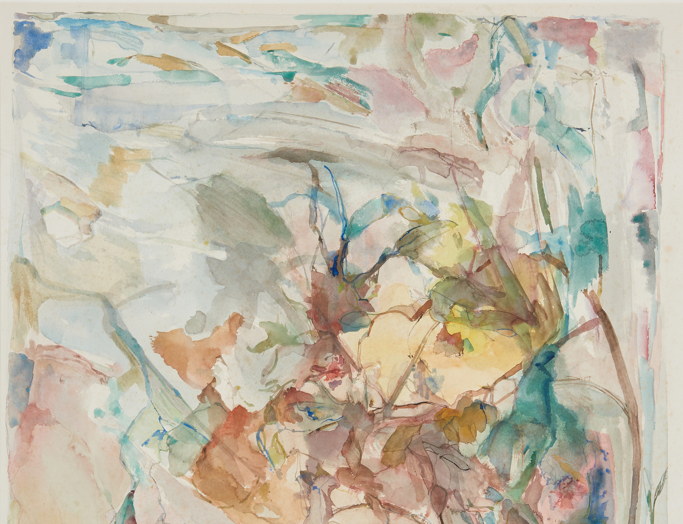 Lot 679: 2 Arthur Rivotuso Abstract Landscape Watercolors