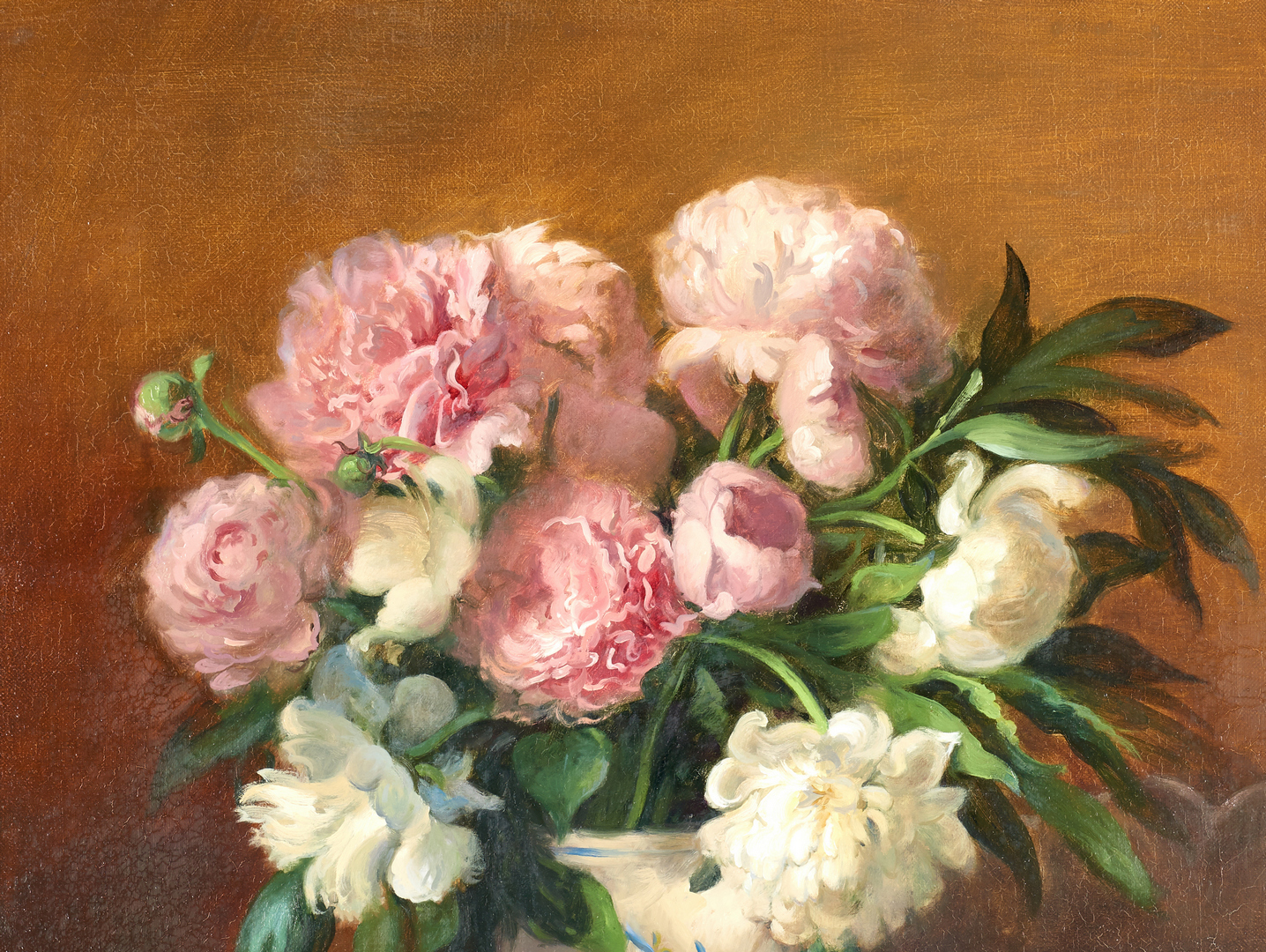Lot 683: Elizabeth Brandon, Still Life With Peonies
