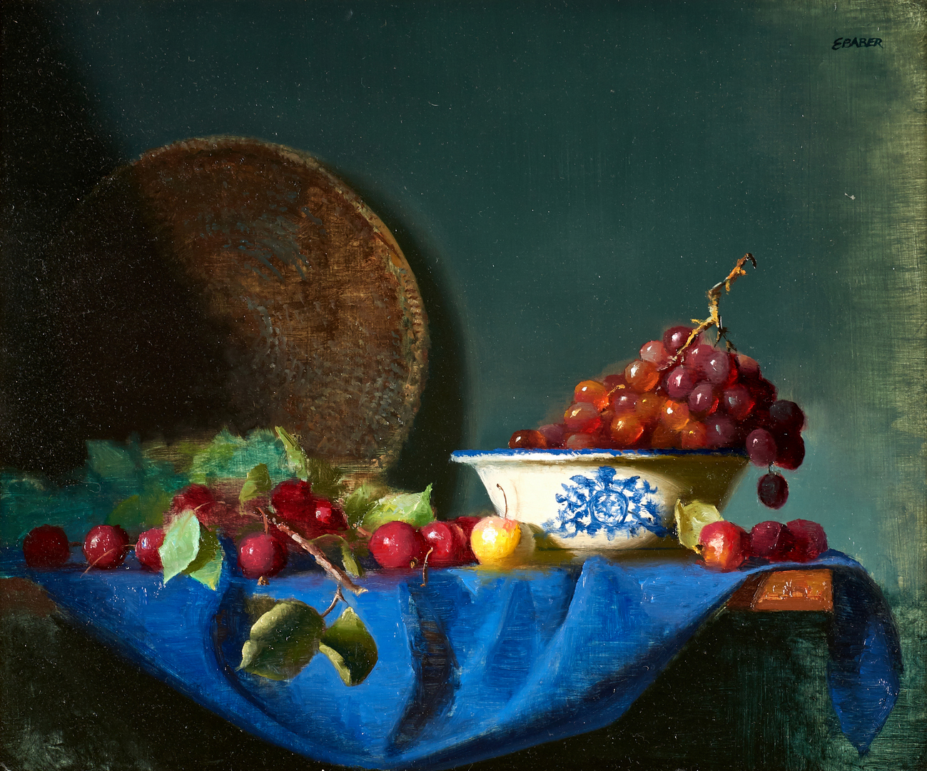 Lot 685: Ernest Baber, O/B Still Life with Grapes